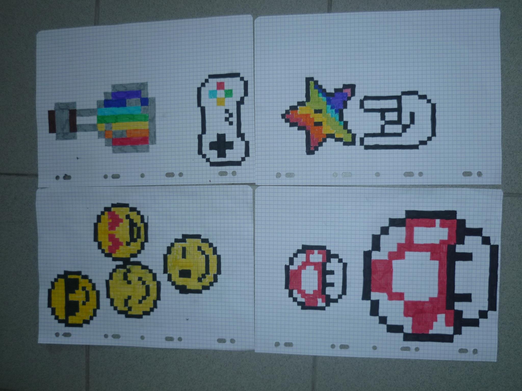 Le Pixel Art Ecole Sainte Famille Varades